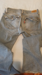 504 Slouch flare Levi's jeans